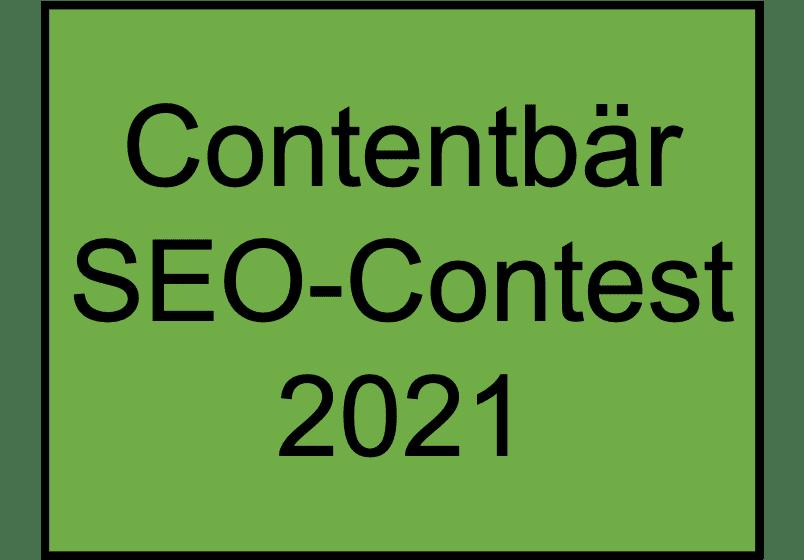 Contentbaer SEO Contest 2021